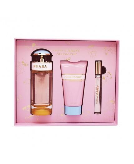 PRADA CANDY SUGAR POP SET - Eau de Parfum Spray 80ml + Body Lotion 75ml + Roll on 10ml