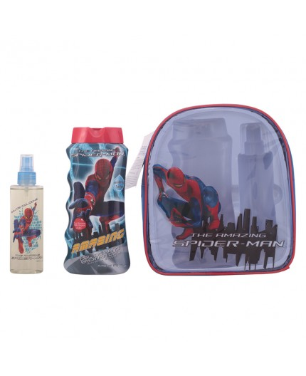 SPIDERMAN Eau de Cologne 200ml + SPIDERMAN Duschgel 475ml + SPIDERMAN Toilettetasche